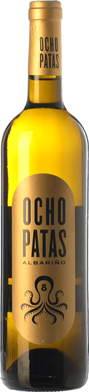 31,95 € Envoi gratuit | Vin blanc Uvas de Cuvée Ocho Patas D.O. Rías Baixas Galice Espagne Albariño Bouteille Magnum 1,5 L