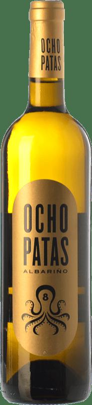 31,95 € Envío gratis | Vino blanco Uvas de Cuvée Ocho Patas D.O. Rías Baixas Galicia España Albariño Botella Mágnum 1,5 L