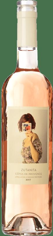 12,95 € Envío gratis | Vino rosado Uvas de Cuvée Zutanita A.O.C. Côtes de Provence Provence Francia Garnacha, Cinsault Botella 75 cl