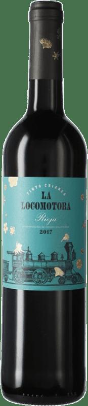 9,95 € Free Shipping | Red wine Uvas Felices La Locomotora Crianza D.O.Ca. Rioja The Rioja Spain Tempranillo Bottle 75 cl