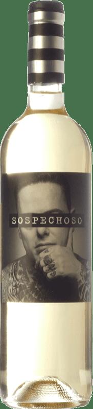 9,95 € Free Shipping | White wine Uvas Felices Sospechoso I.G.P. Vino de la Tierra de Castilla Castilla la Mancha Spain Macabeo, Airén, Verdejo Bottle 75 cl