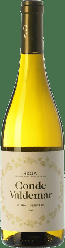 7,95 € 免费送货   白酒 Valdemar Conde de Valdemar Viura-Verdejo Joven D.O.Ca. Rioja 拉里奥哈 西班牙 Viura, Verdejo 瓶子 75 cl