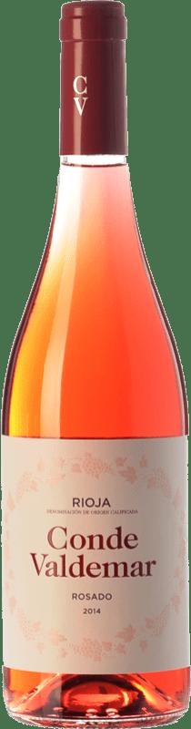 7,95 € 免费送货   玫瑰酒 Valdemar Conde de Valdemar Joven D.O.Ca. Rioja 拉里奥哈 西班牙 Tempranillo, Grenache 瓶子 75 cl