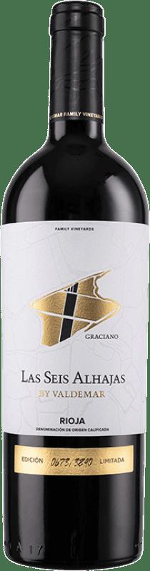 18,95 € Envoi gratuit | Vin rouge Valdemar Inspiración Las Seis Alhajas Reserva D.O.Ca. Rioja La Rioja Espagne Graciano Bouteille 75 cl