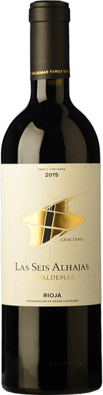 18,95 € Envío gratis | Vino tinto Valdemar Inspiración Las Seis Alhajas Reserva D.O.Ca. Rioja La Rioja España Graciano Botella 75 cl