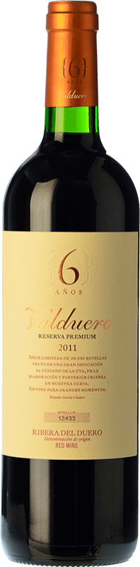 66,95 € 免费送货 | 红酒 Valduero 6 Años Premium Reserva 2010 D.O. Ribera del Duero 卡斯蒂利亚莱昂 西班牙 Tempranillo 瓶子 75 cl