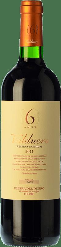 66,95 € Envío gratis | Vino tinto Valduero 6 Años Premium Reserva 2010 D.O. Ribera del Duero Castilla y León España Tempranillo Botella 75 cl