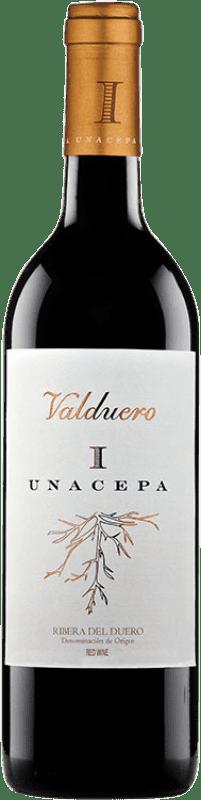 36,95 € Envío gratis | Vino tinto Valduero Una Cepa Reserva D.O. Ribera del Duero Castilla y León España Tempranillo Botella 75 cl