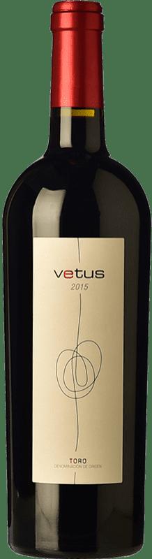 14,95 € 免费送货 | 红酒 Vetus Crianza D.O. Toro 卡斯蒂利亚莱昂 西班牙 Tinta de Toro 瓶子 75 cl