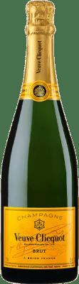 43,95 € Kostenloser Versand | Weißer Sekt Veuve Clicquot Carte Jaune Brut A.O.C. Champagne Champagner Frankreich Chardonnay, Pinot Meunier Flasche 75 cl