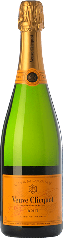 43,95 € Free Shipping | White sparkling Veuve Clicquot Carte Jaune Brut A.O.C. Champagne Champagne France Chardonnay, Pinot Meunier Bottle 75 cl