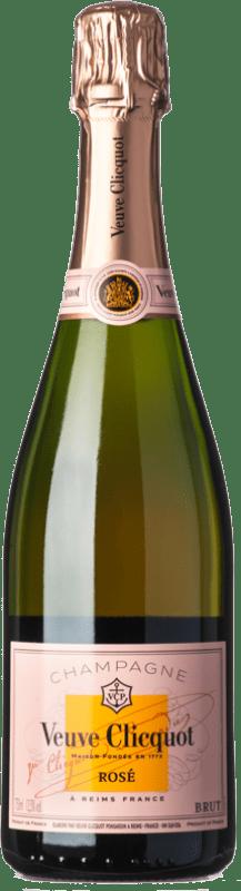 64,95 € Free Shipping | Rosé sparkling Veuve Clicquot Rosé Brut A.O.C. Champagne Champagne France Pinot Black, Chardonnay, Pinot Meunier Bottle 75 cl