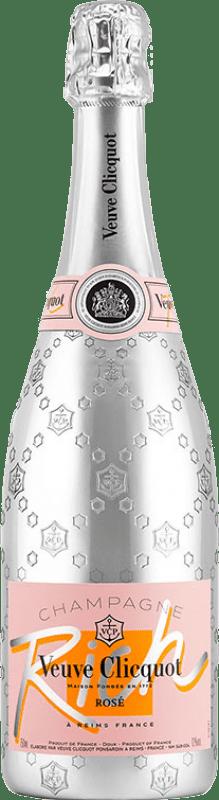 69,95 € Free Shipping | Rosé sparkling Veuve Clicquot Rich Rosé A.O.C. Champagne Champagne France Pinot Black, Chardonnay, Pinot Meunier Bottle 75 cl