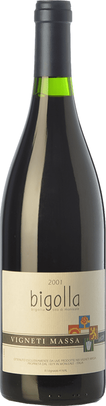 63,95 € Free Shipping | Red wine Vigneti Massa Bigolla 2001 D.O.C. Colli Tortonesi Piemonte Italy Bacca Red Bottle 75 cl