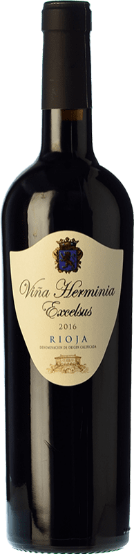 7,95 € Free Shipping | Red wine Viña Herminia Excelsus Joven D.O.Ca. Rioja The Rioja Spain Tempranillo, Grenache Bottle 75 cl