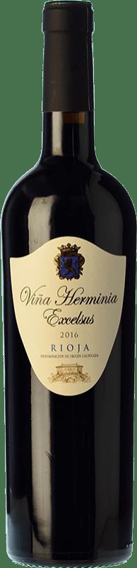 7,95 € 免费送货 | 红酒 Viña Herminia Excelsus Joven D.O.Ca. Rioja 拉里奥哈 西班牙 Tempranillo, Grenache 瓶子 75 cl