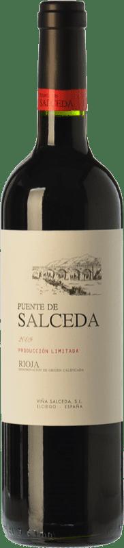 9,95 € 免费送货 | 红酒 Viña Salceda Puente de Salceda Crianza D.O.Ca. Rioja 拉里奥哈 西班牙 Tempranillo 瓶子 75 cl