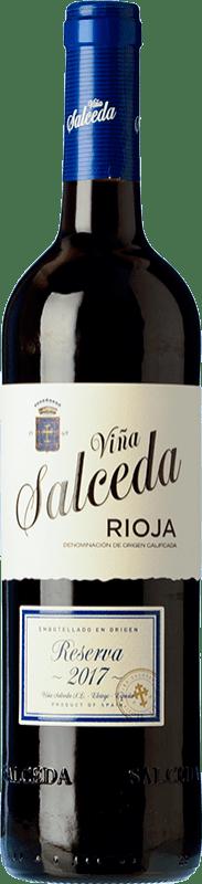 12,95 € Envío gratis | Vino tinto Viña Salceda Reserva D.O.Ca. Rioja La Rioja España Tempranillo, Graciano Botella 75 cl