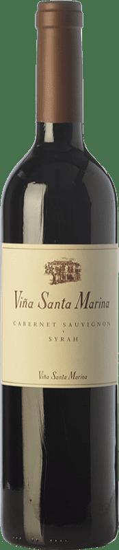 9,95 € 免费送货 | 红酒 Santa Marina Crianza I.G.P. Vino de la Tierra de Extremadura 埃斯特雷马杜拉 西班牙 Syrah, Cabernet Sauvignon 瓶子 75 cl