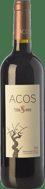 53,95 € Free Shipping | Red wine Viña Sastre Acos Crianza 2009 D.O. Ribera del Duero Castilla y León Spain Tempranillo Bottle 75 cl