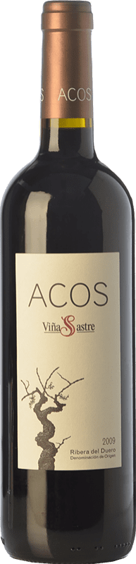 53,95 € Envío gratis | Vino tinto Viña Sastre Acos Crianza 2009 D.O. Ribera del Duero Castilla y León España Tempranillo Botella 75 cl