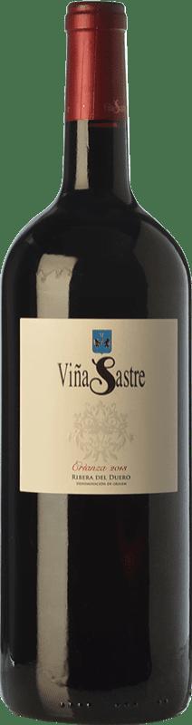 44,95 € Envío gratis | Vino tinto Viña Sastre Crianza D.O. Ribera del Duero Castilla y León España Tempranillo Botella Mágnum 1,5 L