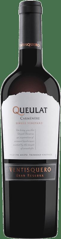 19,95 € | Red wine Viña Ventisquero Queulat Gran Reserva I.G. Valle del Maipo Maipo Valley Chile Syrah, Carmenère Bottle 75 cl