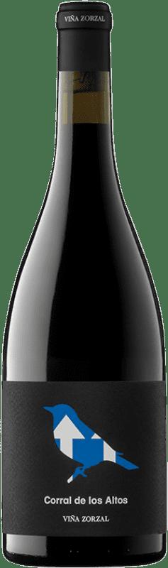 11,95 € 免费送货 | 红酒 Viña Zorzal Corral de los Altos Crianza D.O. Navarra 纳瓦拉 西班牙 Grenache 瓶子 75 cl