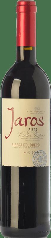 15,95 € Envío gratis | Vino tinto Viñas del Jaro Jaros Crianza D.O. Ribera del Duero Castilla y León España Tempranillo, Merlot, Cabernet Sauvignon Botella 75 cl