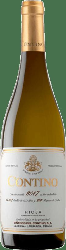 32,95 € 免费送货 | 白酒 Viñedos del Contino Crianza D.O.Ca. Rioja 拉里奥哈 西班牙 Viura, Malvasía, Grenache White 瓶子 75 cl