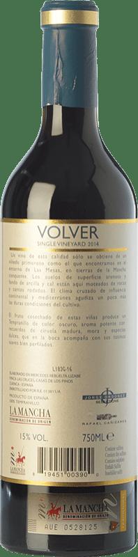 13,95 € Free Shipping | Red wine Volver Crianza D.O. La Mancha Castilla la Mancha Spain Tempranillo Bottle 75 cl