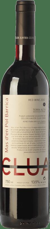 13,95 € Envío gratis | Vino tinto Xavier Clua Mas d'en Pol Barrica Joven D.O. Terra Alta Cataluña España Merlot, Syrah, Garnacha, Cabernet Sauvignon Botella 75 cl
