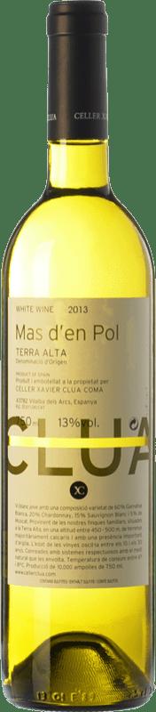 7,95 € Envío gratis | Vino blanco Xavier Clua Mas d'en Pol Blanc D.O. Terra Alta Cataluña España Garnacha Blanca, Chardonnay, Sauvignon Blanca, Moscatel Grano Menudo Botella 75 cl