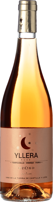 5,95 € 免费送货 | 玫瑰酒 Yllera Rosé I.G.P. Vino de la Tierra de Castilla y León 卡斯蒂利亚莱昂 西班牙 Tempranillo, Verdejo 瓶子 75 cl