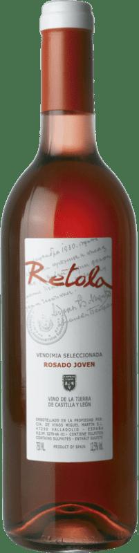 5,95 € | Rosé wine Thesaurus Retola Vendimia Seleccionada Joven I.G.P. Vino de la Tierra de Castilla y León Castilla y León Spain Tempranillo, Grenache Bottle 75 cl