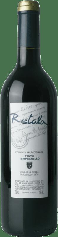 Бесплатная доставка | Красное вино Thesaurus Retola Vendimia Seleccionada Joven I.G.P. Vino de la Tierra de Castilla y León Кастилия-Леон Испания Tempranillo бутылка 75 cl
