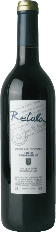 4,95 € | Red wine Thesaurus Retola Vendimia Seleccionada Joven I.G.P. Vino de la Tierra de Castilla y León Castilla y León Spain Tempranillo Bottle 75 cl