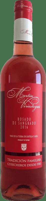 Бесплатная доставка | Розовое вино Thesaurus Martín Verástegui Joven I.G.P. Vino de la Tierra de Castilla y León Кастилия-Леон Испания Tempranillo бутылка 75 cl