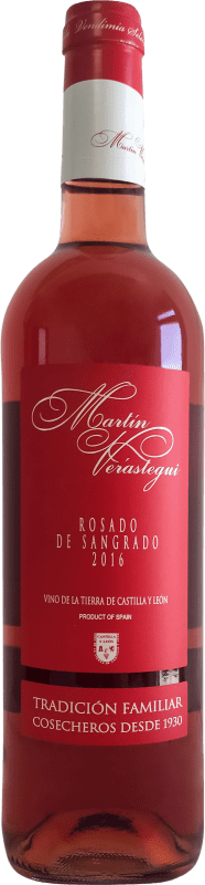 Vinho rosé Thesaurus Martín Verástegui Joven I.G.P. Vino de la Tierra de Castilla y León Castela e Leão Espanha Tempranillo Garrafa 75 cl