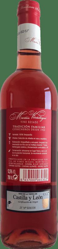 Thesaurus Martín Verástegui Tempranillo Vino de la Tierra de Castilla y León Jeune 75 cl