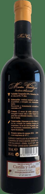Thesaurus Martín Verástegui 18 Meses Vendimia Seleccionada Vino de la Tierra de Castilla y León Reserva 2006 75 cl
