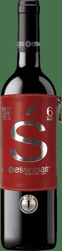 13,95 € Envoi gratuit | Vin rouge Esencias «s» Premium Edition 6 Meses Crianza I.G.P. Vino de la Tierra de Castilla y León Castille et Leon Espagne Tempranillo Bouteille 75 cl