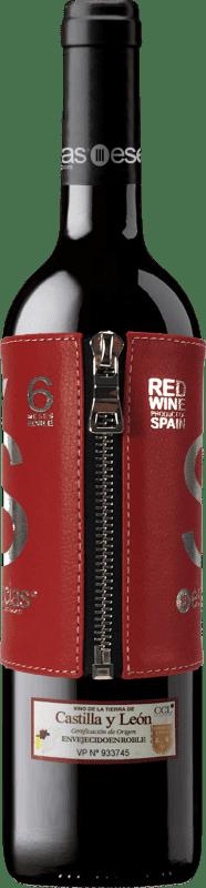 13,95 € | Rotwein Esencias «s» Premium Edition 6 Meses Crianza I.G.P. Vino de la Tierra de Castilla y León Kastilien und León Spanien Tempranillo Flasche 75 cl