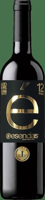 Envío gratis | Vino tinto Esencias «é» 12 Meses Crianza 2012 I.G.P. Vino de la Tierra de Castilla y León Castilla y León España Tempranillo Botella 75 cl
