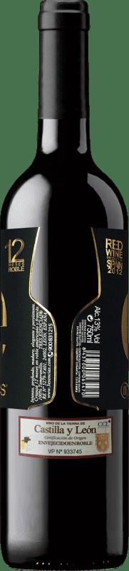 19,95 € | 红酒 Esencias «é» 12 Meses Crianza 2012 I.G.P. Vino de la Tierra de Castilla y León 卡斯蒂利亚莱昂 西班牙 Tempranillo 瓶子 75 cl