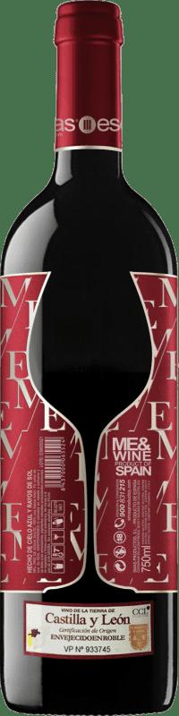 Бесплатная доставка | Красное вино Esencias ME&Red Crianza I.G.P. Vino de la Tierra de Castilla y León Кастилия-Леон Испания Tempranillo бутылка 75 cl