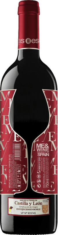 Vino tinto Esencias ME&Red Crianza I.G.P. Vino de la Tierra de Castilla y León Castilla y León España Tempranillo Botella 75 cl