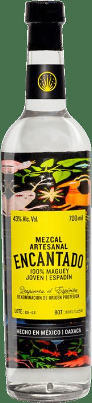 37,95 € Free Shipping | Mezcal Los Danzantes Artesanal Encantado Bottle 70 cl