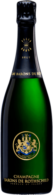 124,95 € Free Shipping   White sparkling Barons de Rothschild Brut A.O.C. Champagne Champagne France Pinot Black, Chardonnay, Pinot Meunier Magnum Bottle 1,5 L