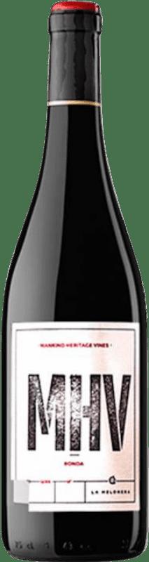 59,95 € Free Shipping | Red wine Finca La Melonera M.H.V. Tinto D.O. Sierras de Málaga Andalusia Spain Tintilla de Rota Bottle 75 cl